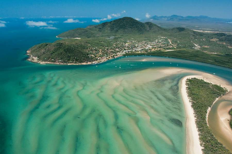 aerial view of Cooktown and waterways